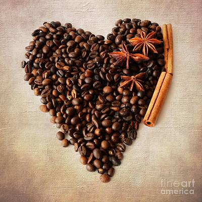 Photograph - Coffee Heart I by Katerina Vodrazkova