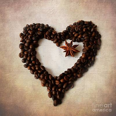Photograph - Coffee Heart II by Katerina Vodrazkova