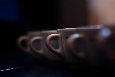 Coffe Digital Art - Coffee In The Row by Iva Krapez