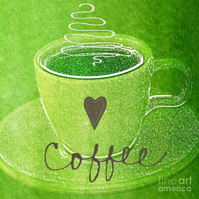 Coffee Art Print by Linda Woods