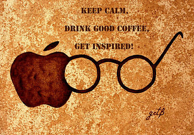 Coffee Lovers Quote 2 Art Print