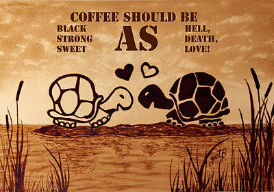 Coffee Lovers Reminder Art Print by Georgeta Blanaru