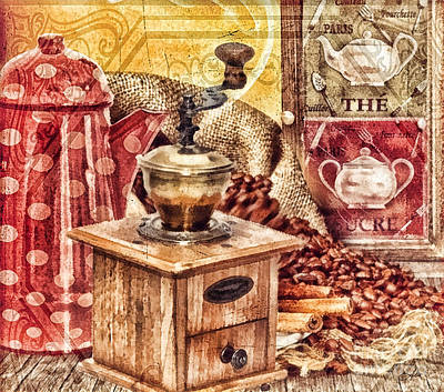 Coffee Mill Art Print by Mo T