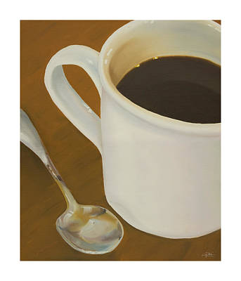 Coffee Painting - Coffee Mug And Spoon by Craig Tinder