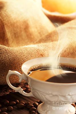 Coffee Art Print by Mythja  Photography