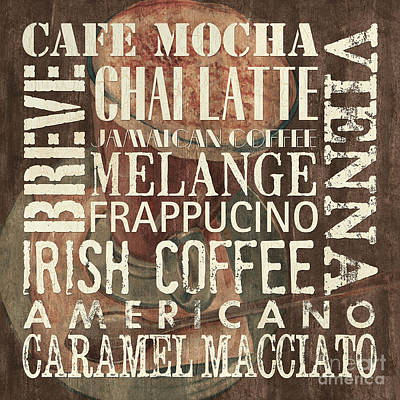 Coffee Of The Day 1 Print by Debbie DeWitt