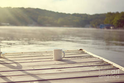 Coffee On The Dock Art Print by Kay Pickens