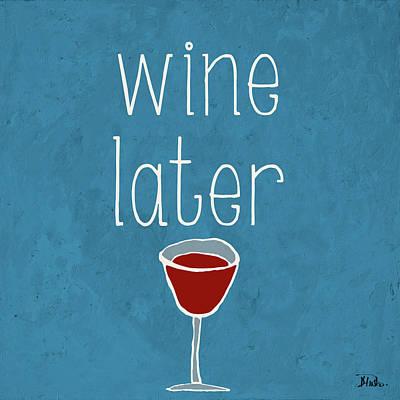 Wine Glasses Digital Art - Coffee Or Wine II by Patricia Pinto