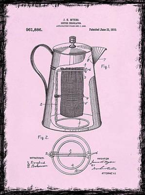 Coffee Grinder Photograph - Coffee Percolator Patent 1910 by Mark Rogan
