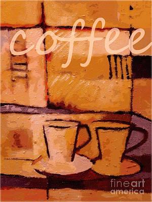 Espresso Painting - Coffee Poster by Lutz Baar