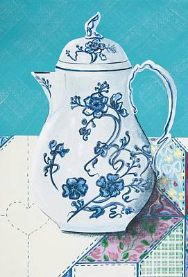 Painting - Coffee Pot Flow Blue by Jennifer Lake