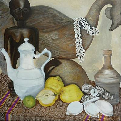 Art Print featuring the painting Coffee Pot by Helen Syron