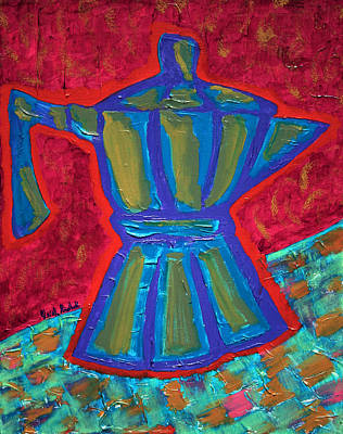 Painting - Coffee Pot  by Oscar Penalber