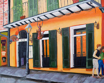 Painting - Coffee Pot Restaurant-french Quarter by June Holwell