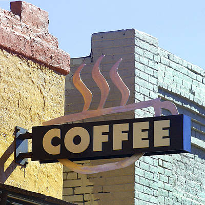 Photograph - Coffee Shop by Art Block Collections