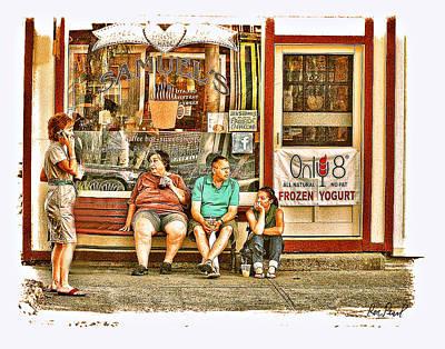 Frozen Yogurt Photograph - Coffee Talk by Ron Pearl