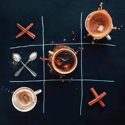Photograph - Coffee Tic-tac-toe by Dina Belenko Photography