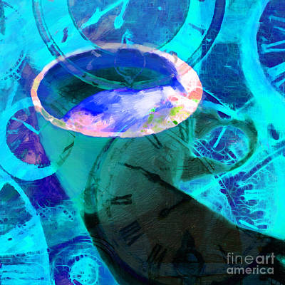 Coffee Time My Time 5d24472p168 Square Print by Wingsdomain Art and Photography