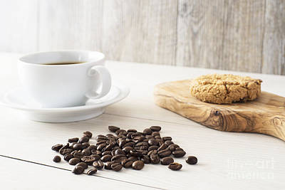 Wooden Platter Photograph - Coffee Time by Stephen Baker