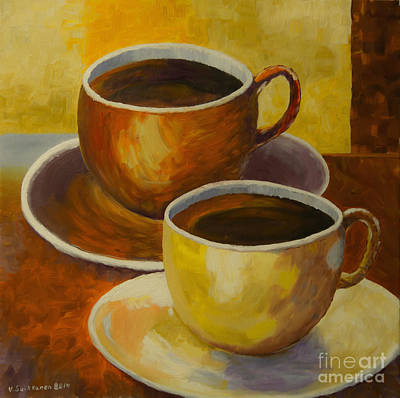 Coffee Painting - Coffee Time by Veikko Suikkanen