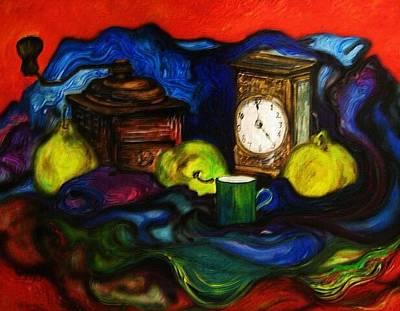 Painting - Coffee Time With Pears by Kendra Sorum