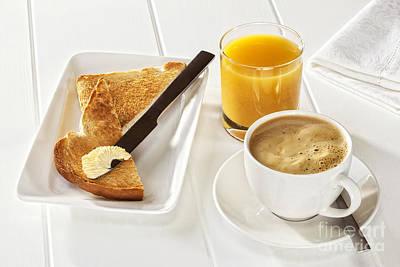Coffee Toast Orange Juice Art Print by Colin and Linda McKie