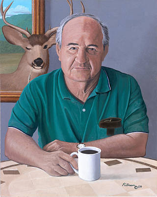Painting - Coffee With Bob Friend Of Nature by Michael Putnam