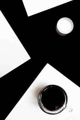 Coffee Drinking Digital Art - Coffee With Milk by Elena Lir-Rachkovskaya