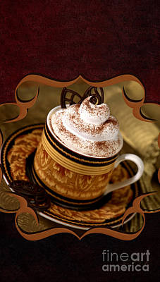 Coffee With Whipped Topping And Chocolates Art Print by Iris Richardson