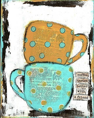 Caf Painting - Coffee_3 by Cassandra Cushman