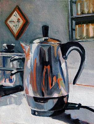 Painting - Coffeepot by Pattie Wall