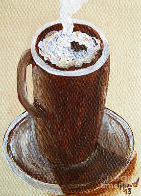 Espresso Painting - Coffeetime 1 by Christine Huwer