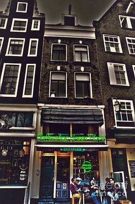 Old Home Place Mixed Media - Coffee Shop Amsterdam by Miryam  UrZa