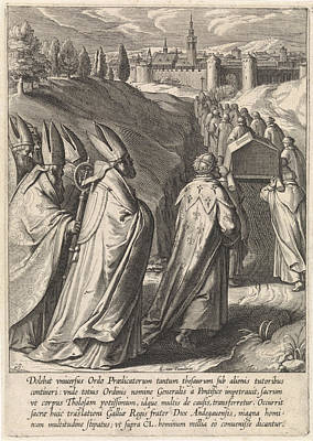 Dominican Drawing - Coffin Of Thomas Aquinas Is Brought To The Dominican Church by Artokoloro