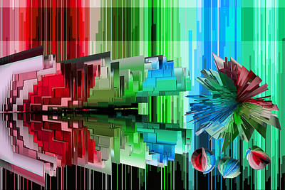 Abstract Digital Mixed Media - Cognitive Dissonance 3 by Angelina Vick