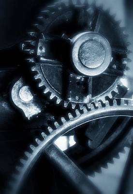 Photograph - Cogs In Blue by Nadalyn Larsen