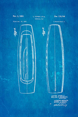 Monorail Photograph - Cohen Monorail Toy Patent 4 Art 1953 Blueprint by Ian Monk