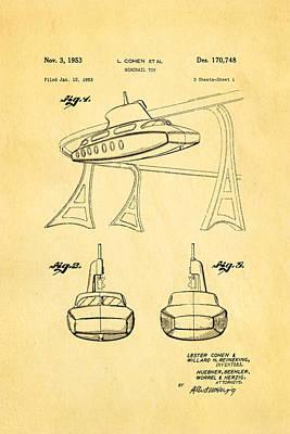Cohen Monorail Toy Patent Art 1953 Art Print by Ian Monk