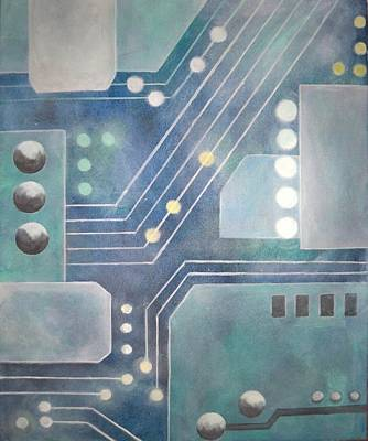 Microchip Painting - Coherence by Jeanelle Demers