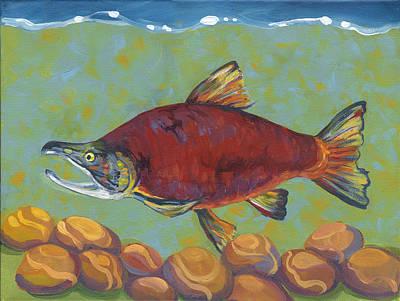Coho Salmon Art Print by Peggy Wilson