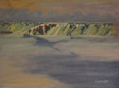 Painting - Cohoes Falls In Winter by Len Stomski