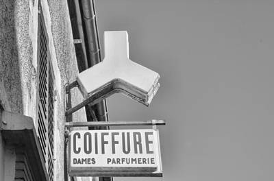 French Signs Photograph - Coiffure by Georgia Fowler