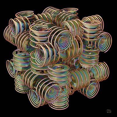 Digital Art - Coiled Potential by Manny Lorenzo