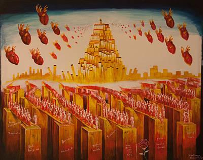 Painting - Coimbras Hearts by Santiago Ribeiro