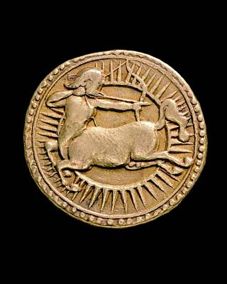 Coins Photograph - Coin Of Jahangir by Ashmolean Museum/oxford University Images