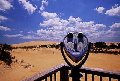 Coins Photograph - Coin-operated Binoculars In Desert by Panoramic Images