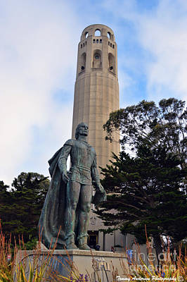 Impressionist Landscapes - Coit Tower -1 by Tommy Anderson