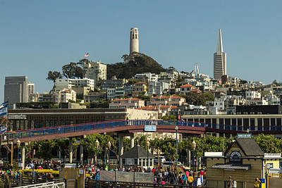 Oakland Neighborhood Photograph - Coit Tower by Ken Kobe