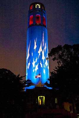 Coit Tower On The Anniversary Of 9/11 Art Print