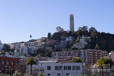 Coit Tower San Francisco California Dsc2000 Print by Wingsdomain Art and Photography